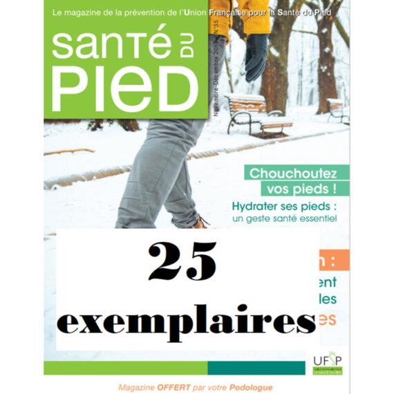 Abonnement au magazine Santé du pied 25 exemplaires 2021